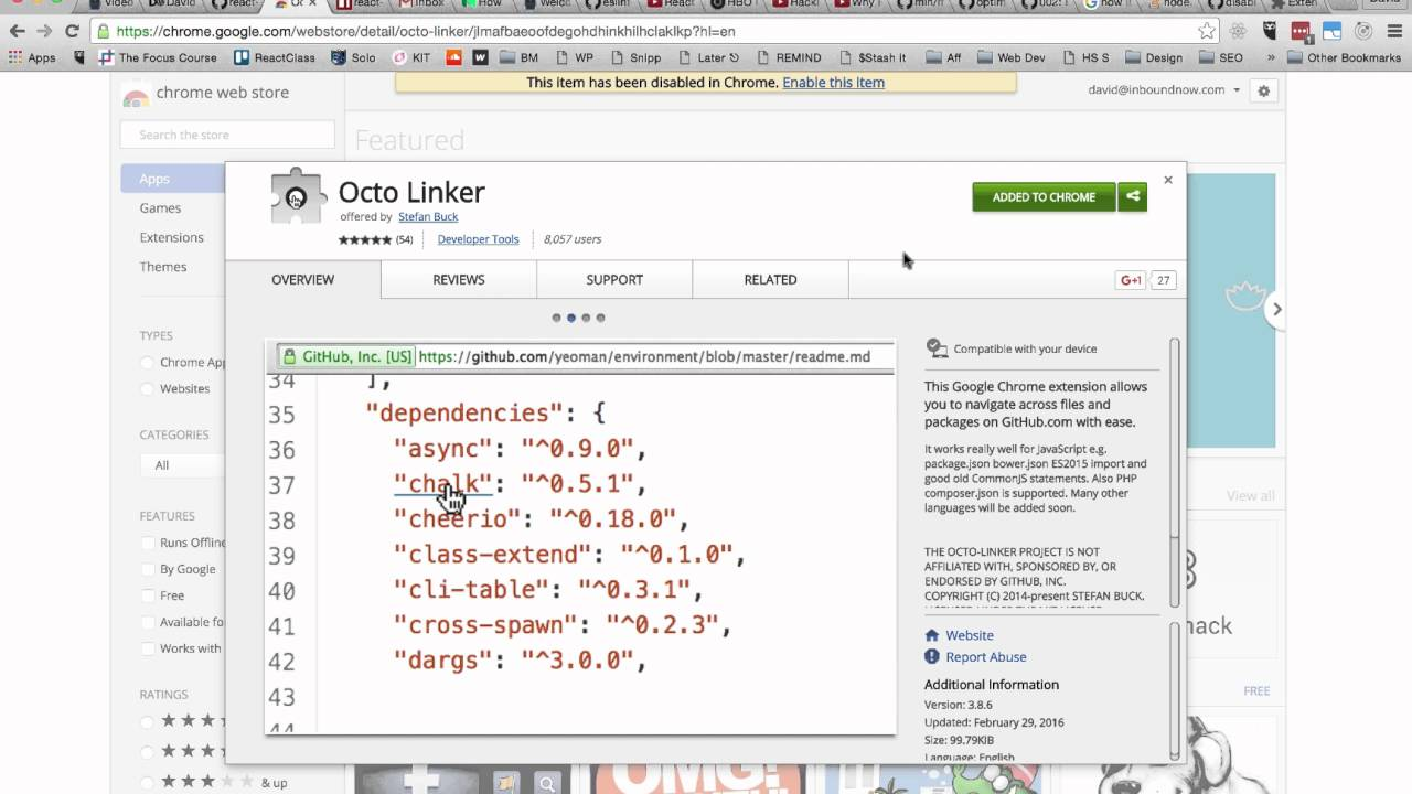 Navigate Github project files & dependencies faster with Octolinker