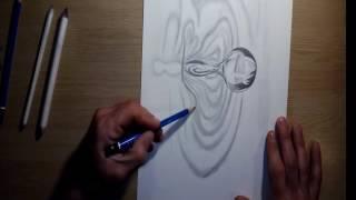 Dibujando una gota de agua-como dibujar una gota de agua/drawing a drop of water-how to draw a drop