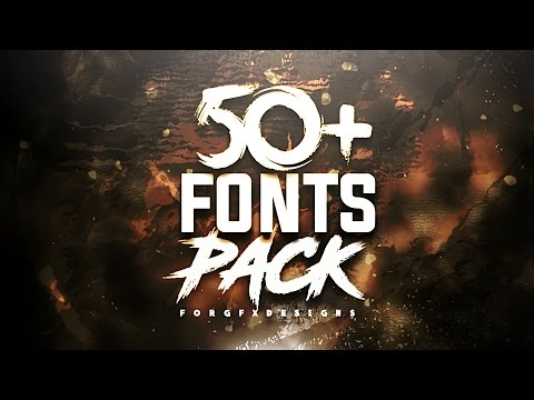 50+ font pack for Gfx Designs