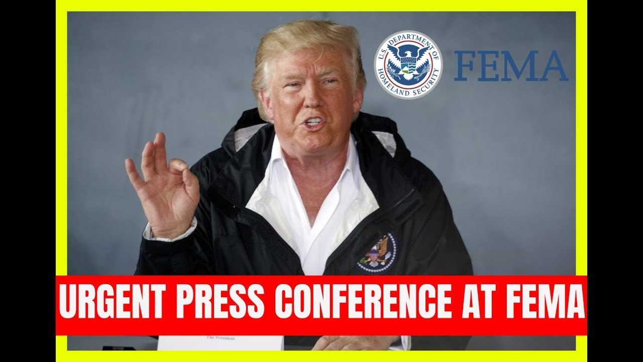 GST BREAKING: President Trump URGENT Press Conference at FEMA