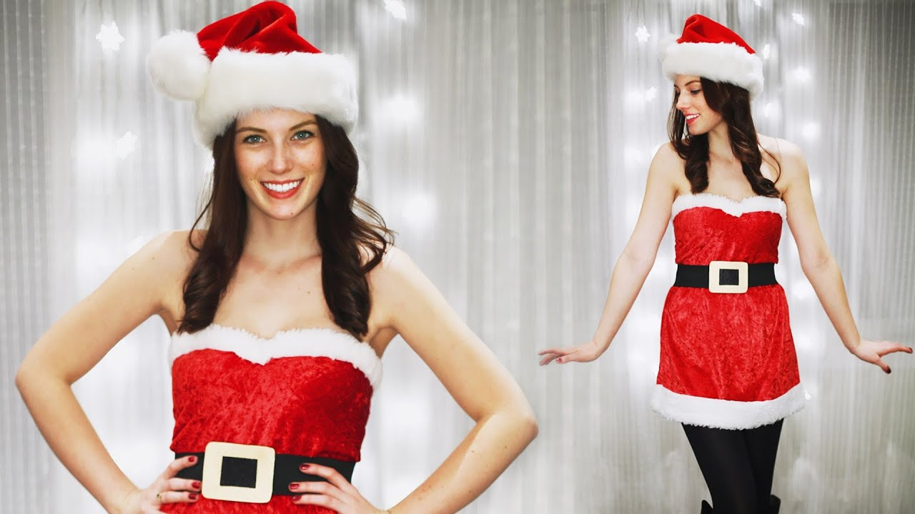 DIY CUTE SANTA CLAUS - MEAN GIRLS - SANTA BABY COSTUME - YouTube