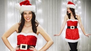 DIY CUTE SANTA CLAUS - MEAN GIRLS -  SANTA BABY COSTUME