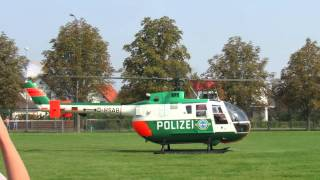 Polizeihubschrauber Start