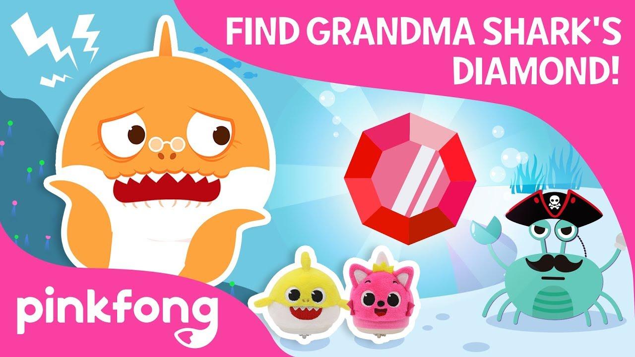 Finding Grandma Sharks Diamond | Baby Shark Toy | Pinkfong Songs for Children