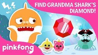 Finding Grandma Shark's Diamond | Baby Shark Toy | Pinkfong Songs for Children
