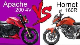 TVS Apache RTR 200 4V (EFI Model) Vs Honda CB Hornet 160R | Comparison Review (EXTENDED)