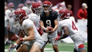Watch Alabama Football Practice Before Friday's Scrimmage | Bryce Young, William Anderson Jr.