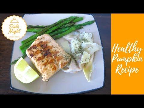 Fall Dinner Recipe   Pumpkin Ravioli with Grilled Salmon