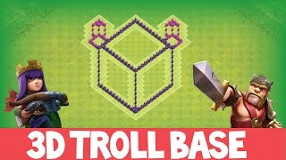 "Clash Of Clans | INCREDIBLE 3D TROLL BASE! A MUST WATCH! | ""THE BOX 3.0"" 