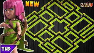NEW TOWN HALL 9 FARMING/TROPHY BASE 2017! TH9 HYBRID FARM BASE UPDATED!! - CLASH OF CLANS(COC)