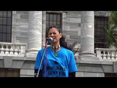 CPTPP Catherine Murupaenga Ikenn, Wellington Rally 8 March 2018