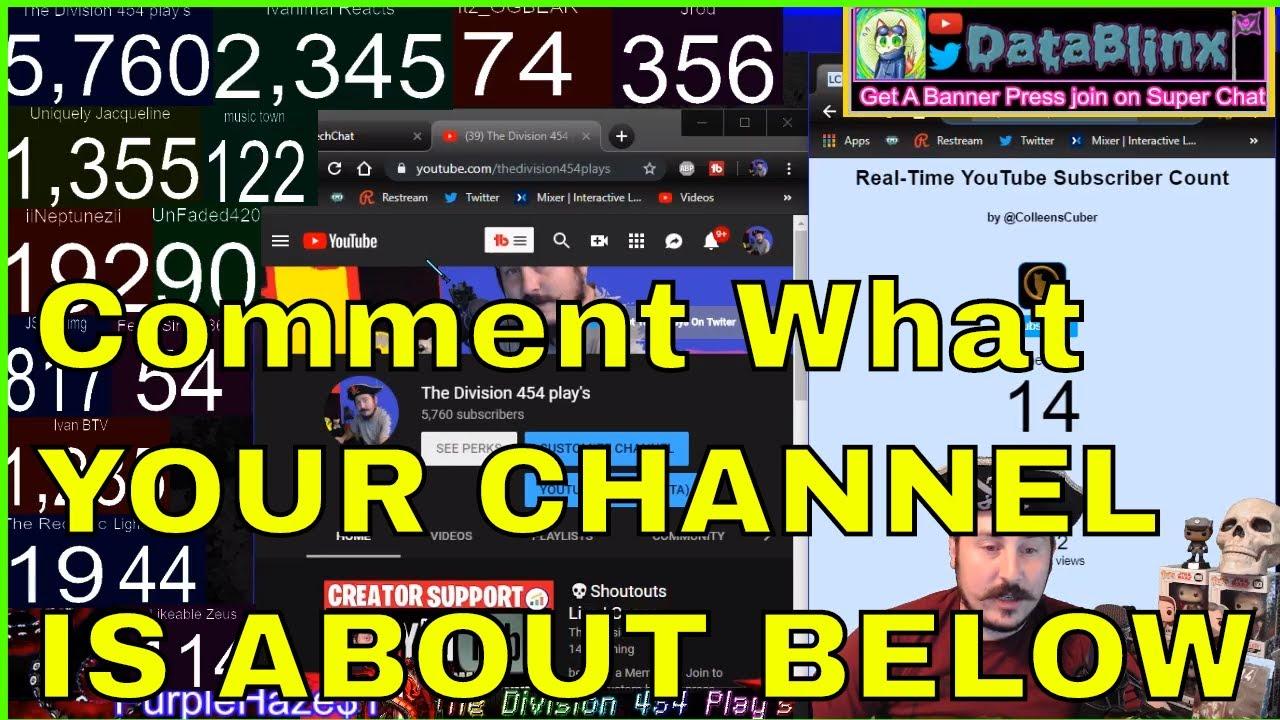 💀Shoutouts Live | Leave a Comment About Your Channel |