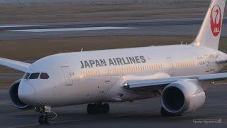 日本航空 ボーイング787-8 関西国際空港 ランウェイ24レフト 離陸 Japan...