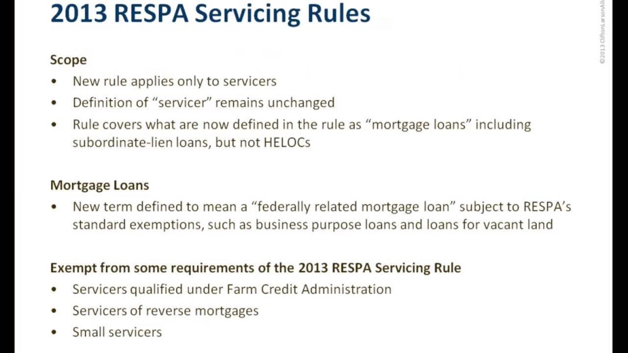 Webinar Understanding The New Mortgage Servicing Rules Youtube