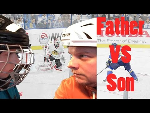 Father VS Son NHL 2017 Challenge!!!! Father versus son hits the ice