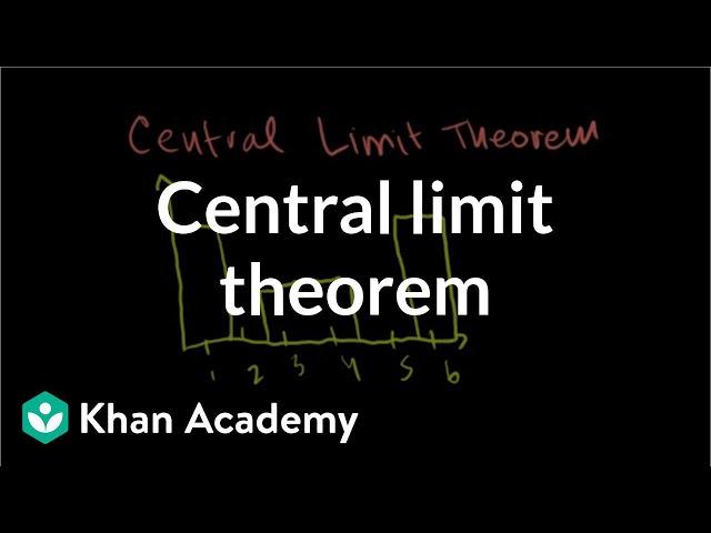 Central limit theorem (video) | Khan Academy