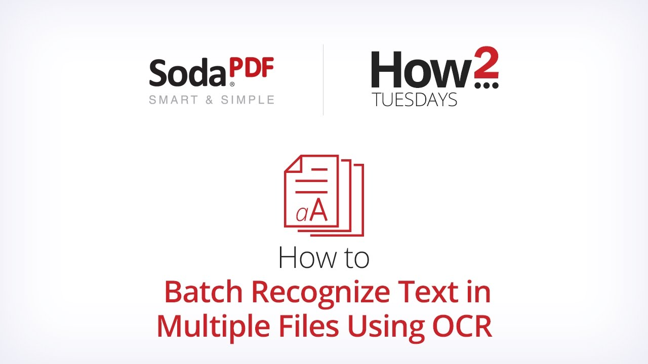 How to Batch Recognize Text in Multiple Files Using OCR
