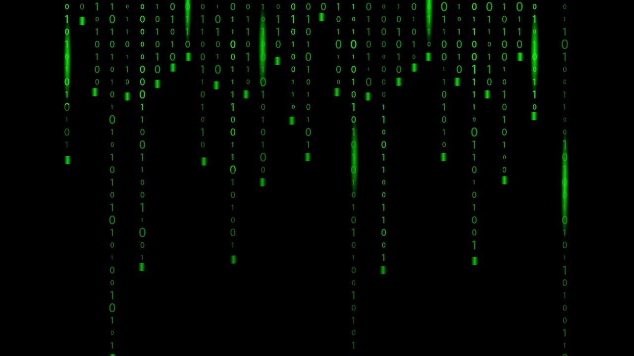 Matrix green binary code background - Adobe Illustrator cs6 tutorial