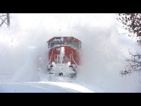Epic train and snow action in Twin Cities