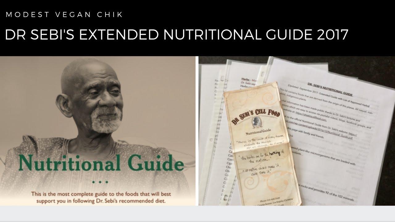 Dr Sebi Nutritional Guide 2017 Nutrition Ftempo