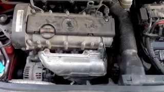 Skoda Fabia звук при запуске двигателя после