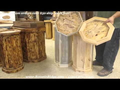 Custom Blue Pine Taxidermy Pedestal With Unique Top Youtube