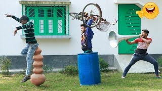 New Top Funny Comedy Video 2020_Try Not To Laugh_Episode 49_By FunKiVines
