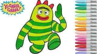 Yo Gabba Gabba Coloring Book Brobee Colouring Pages