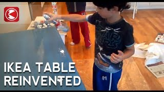 Preval Sprayer & Ikea Table W/ Martha Stewart Glaze
