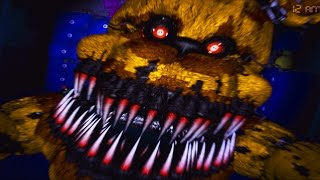 Five Nights At Freddy s 4 NIGHTMARE FREDBEAR JUMPSCARE Night 4 And Night 5 Gameplay