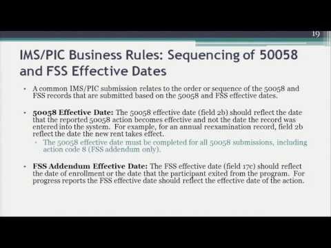 3. FSS Addendum  IMS PIC Business Rules