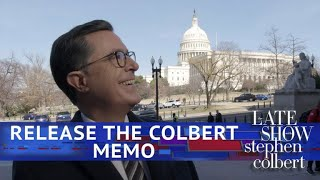 Stephen Colbert Grabs Capitol Hill By The Memo