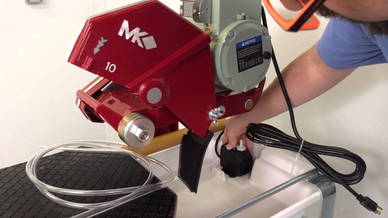 assembling an mk101 24 wet tile saw