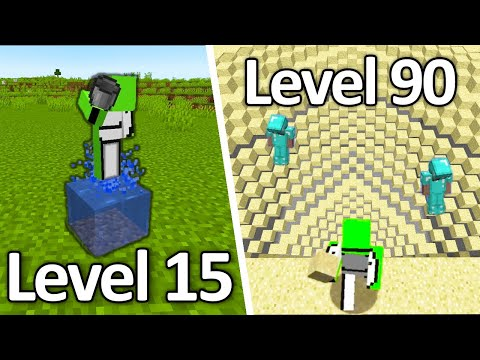 Minecraft IMPOSSIBLE 200 IQ Plays (From Level 1 to Level 100) |