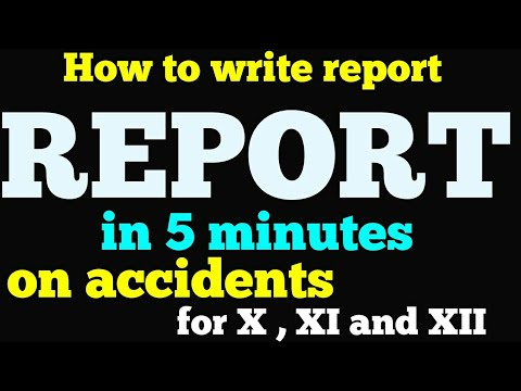 report writing format ii 11th and 12th class ii with example report on accidents
