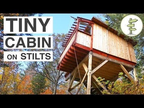 Beautiful Treehouse-Style Cabins on Stilts - Full Tour