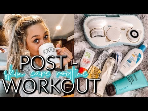 MORNING SKIN CARE ROUTINE | POST WORKOUT + ACNE TALK thumbnail