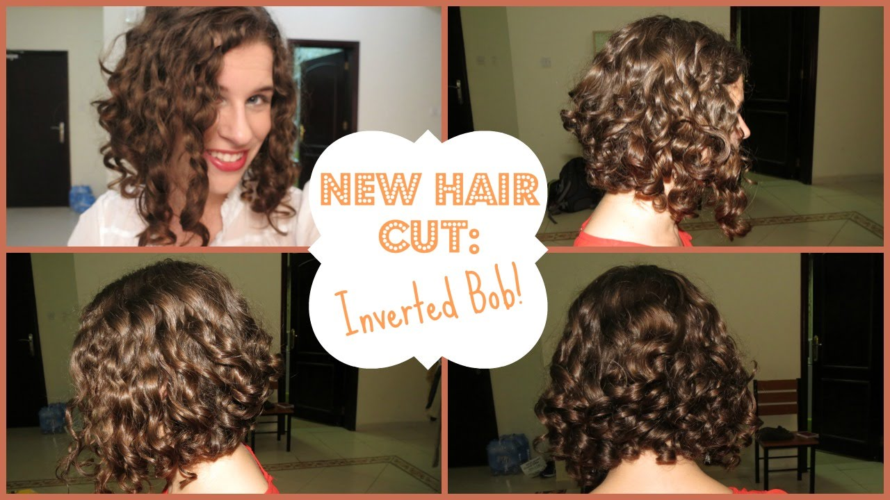 My New Hair Cut Inverted Curly Bob Youtube