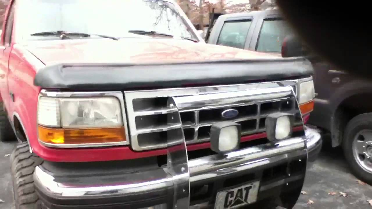 "Ford F150 Lifted >> 3"" body lift on 1992 ford f250 - YouTube"