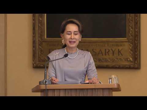 Aung San Suu Kyi At Charles University