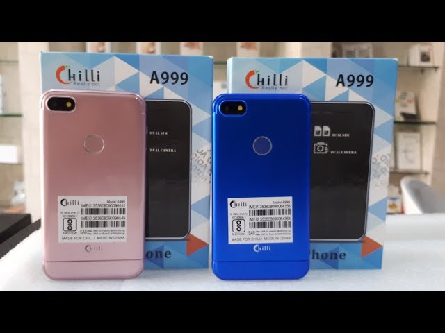 Chilli A999 card phone   unboxing Chillo A999