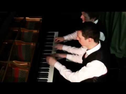 J. STRAUSS II: TRITSCH-TRATSCH POLKA (PIANO DUET BY SCOTT BROTHERS DUO)