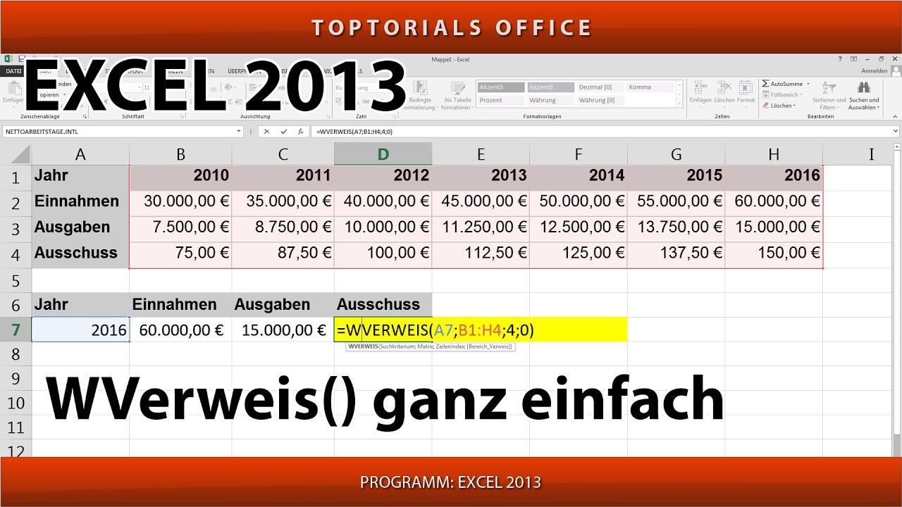 Wverweis Ganz Einfach Excel