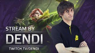 Dota 2 Stream: Na`Vi Dendi playing Windranger (Gameplay & Commentary)