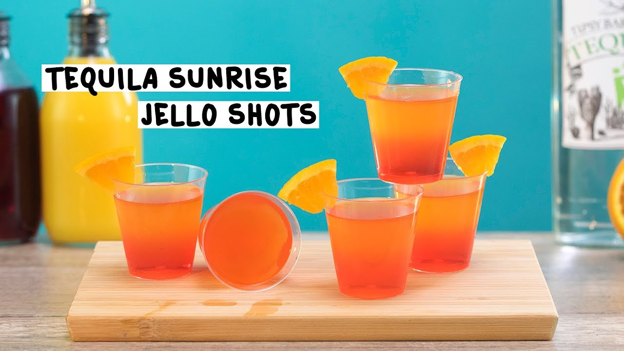 How to make a tequila sunrise shot