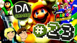 SUPER MARIO 3D WORLD (Co-Op) PART 23 - So Much Water And Fire - DAGames