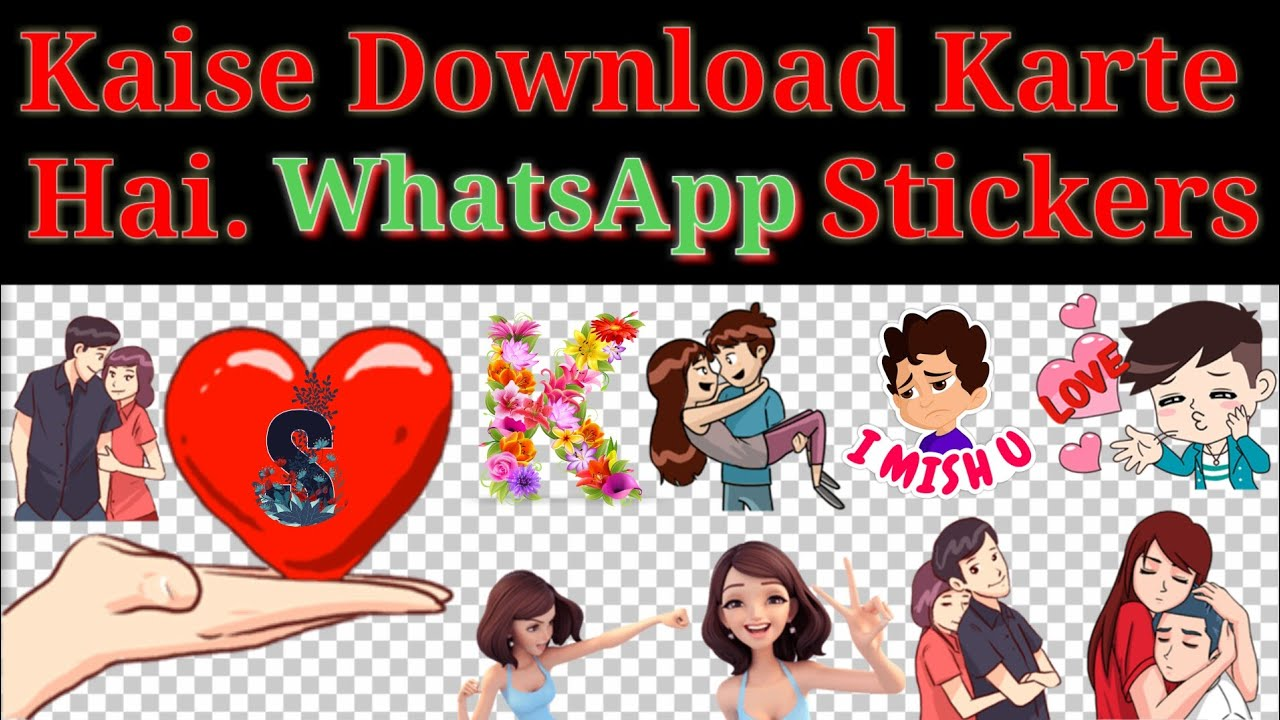 How To Download Whatsapp Status Stickers Png Cartoon Characters Aaps Youtube