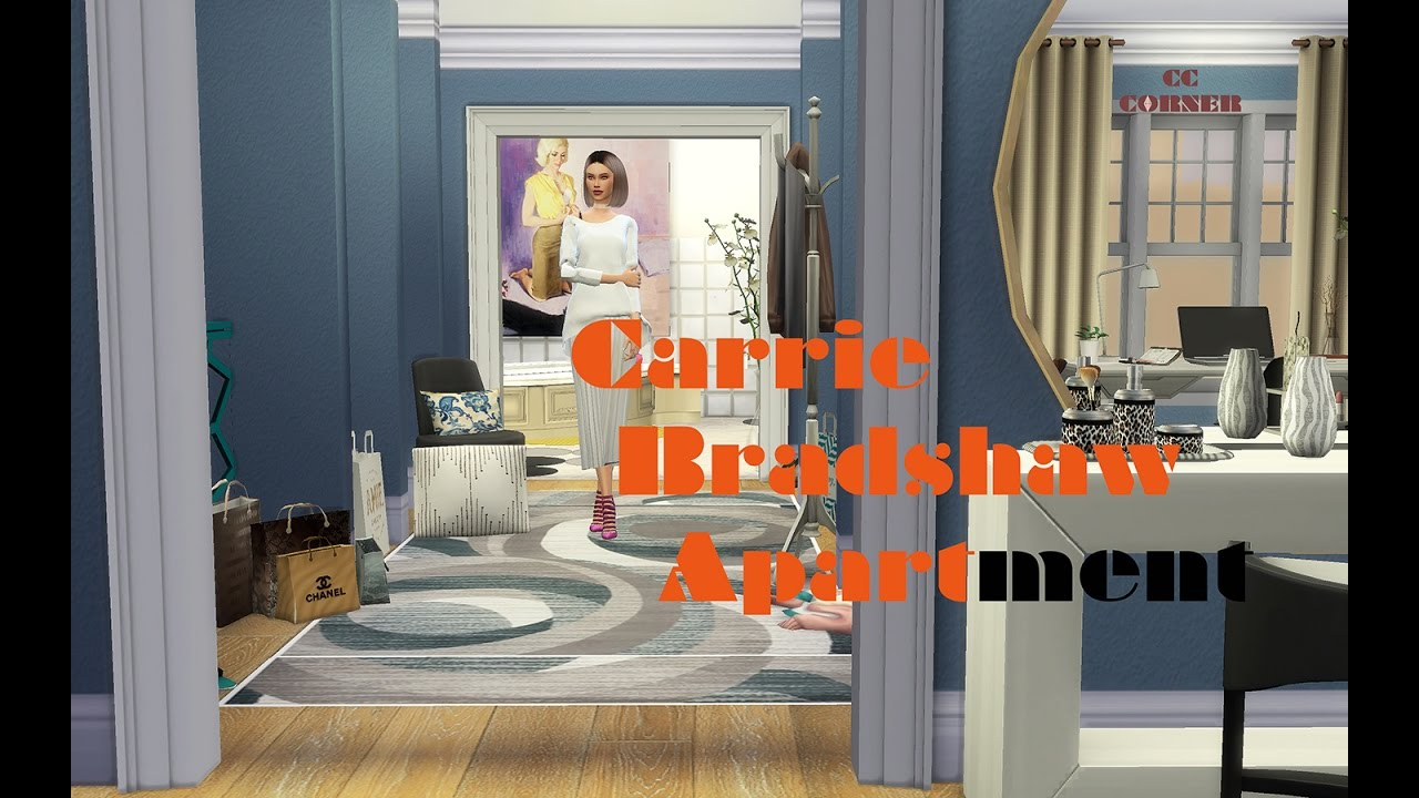 sims 4 speed build carrie bradshaw apartment youtube. Black Bedroom Furniture Sets. Home Design Ideas