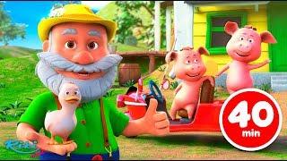 Песенки для детей - Животные на ферме | Old Macdonald - Farm Animals Nursery Rhymes