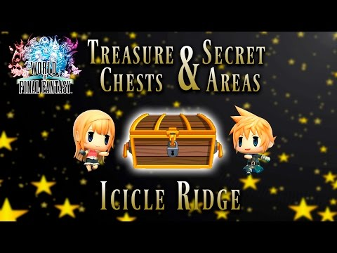 World of Final Fantasy - Icicle Ridge | Treasure Chest and Secret Areas Guide